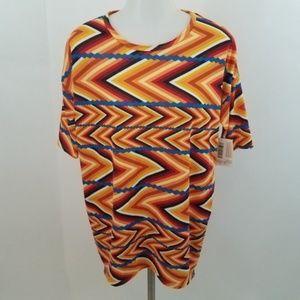 Lularoe Irma shirt short sleeve top blouse new XXS